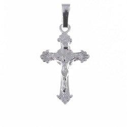Krzyżyk srebrny z wizerunkiem Jezusa  MO058