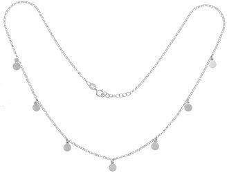 Łańcuszek Celebrytka SREBRNA - kilka elementów 7 kółek choker srebro pr 925 CEL55