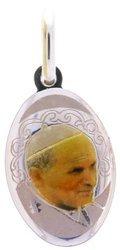 Medalik srebrny (1,5 g) - Święty Jan Paweł II MK012