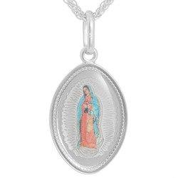 Medalik srebrny (1,7 g) - Matka Boska Guadelupe owal  MK042