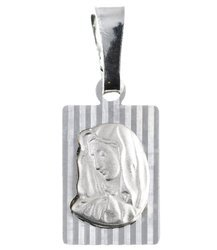 Medalik srebrny diamentowy - Matka Boska Bolesna MD09