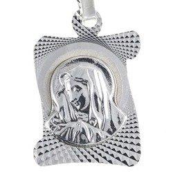 Medalik srebrny diamentowy - Matka Boska Bolesna MD16