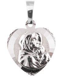 Medalik srebrny diamentowy -Matka Boska Cygańska (Wędrowna) II MD65