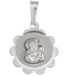 Medalik srebrny diamentowy - Matka Boska Częstochowska MD30