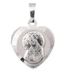 Medalik srebrny diamentowy -Matka Boska Ostrobramska II MD63