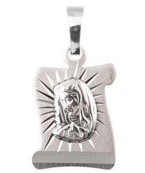 Medalik srebrny diamentowy - Matka Boża MD61
