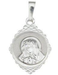 Medalik srebrny diamentowy - Matki Bożej  MD41