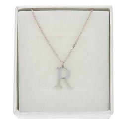 Naszyjnik celebrytka literka R 1,0 cm srebro rodowane pr 925 CELR1CM