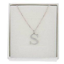 Naszyjnik celebrytka literka S 1,0 cm srebro rodowane pr 925 CELS1CM