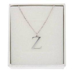Naszyjnik celebrytka literka Z 1,0 cm srebro rodowane pr 925 CELZ1CM