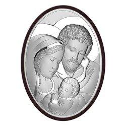 Obrazek Srebrny Święta Rodzina drewniana ramka 6555WM