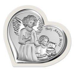 Obrazek srebrny Anioł Stróż 6526W