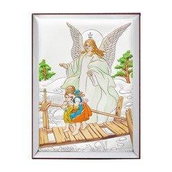 Obrazek srebrny Anioł stróż na kładce 31125CER