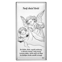 Obrazek srebrny Aniołek Twój Anioł Stróż DS02