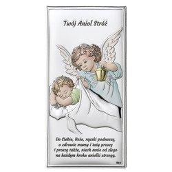 Obrazek srebrny Aniołek Twój Anioł Stróż DS02C