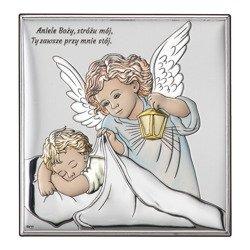Obrazek srebrny Aniołek Twój Anioł Stróż DS15C