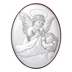 Obrazek srebrny Aniołek nad dzieckiem 31040