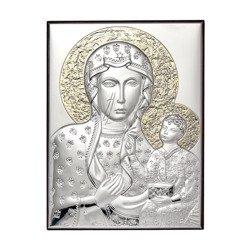 Obrazek srebrny Matka Boska Częstochowska 306102O