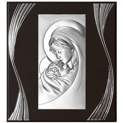 Obrazek srebrny Matka Boska z dzieciątkiem 6381F