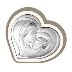 Obrazek srebrny Matka Boska z dzieciątkiem 6433CC