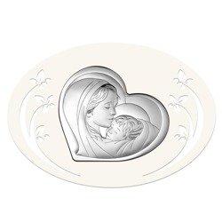 Obrazek srebrny Matka Boska z dzieciątkiem 6433P