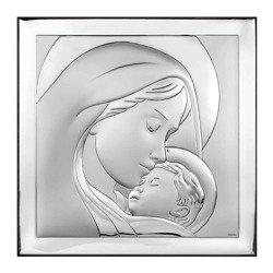 Obrazek srebrny Matka Boska z dzieciątkiem 6436