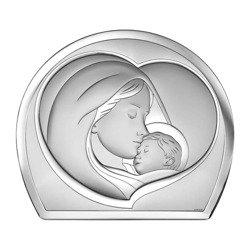 Obrazek srebrny Matka Boska z dzieciątkiem 6524