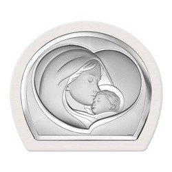 Obrazek srebrny Matka Boska z dzieciątkiem 6524W