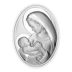 Obrazek srebrny Matka Boska z dzieciątkiem 6556W