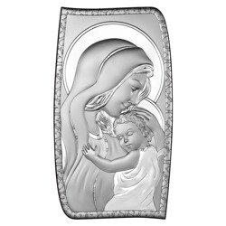 Obrazek srebrny Matka Boska z dzieciątkiem 6565