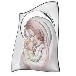 Obrazek srebrny Matka Boska z dzieciątkiem 81000COL
