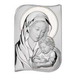 Obrazek srebrny Matka Boska z dzieciątkiem 82108