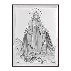 Obrazek srebrny Matka Boża Niepokalana 31137A
