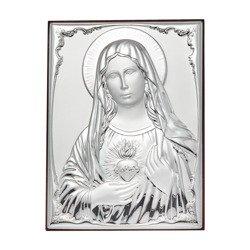 Obrazek srebrny Niepokalane Serce Maryi 309825A