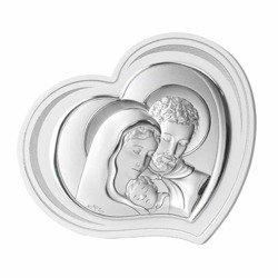 Obrazek srebrny Święta Rodzina 81296