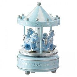 Pozytywka - karuzela z końmi, niebieska 21031C