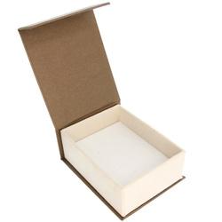 Pudełko na biżuterię elganckie brąz / ecrue P3
