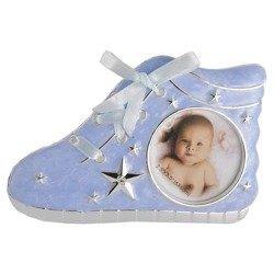 Ramka dziecięca z masy perłowej - niebieska, bucik 473-3196