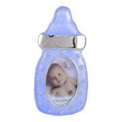 Ramka dziecięca z masy perłowej - niebieska, butelka ze smoczkiem 473-3189