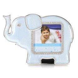 Ramka dziecięca z masy perłowej - niebieska, słonik 473-3330