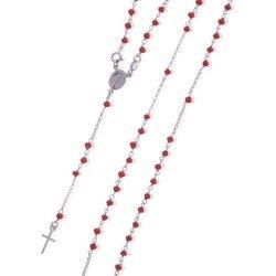Różaniec srebrny - 5 dziesiątek na szyję 7,8-8,2 g, srebro pr. 925 RC010
