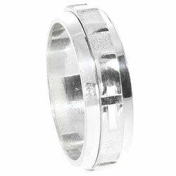 Różaniec srebrny, dziesiątka, obrotowa obrączka na palec, rozmiar 13-27  Srebro pr. 925 RPO01