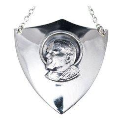 Ryngraf srebrny 925 Św. Jan Paweł II R02