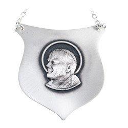 Ryngraf srebrny 925 Św. Jan Paweł II R06