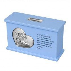Skarbonka Pamiątka Chrztu Świętego - niebieska 3647/C
