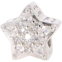 Srebrna przywieszka pr 925 Charms gwiazda cyrkonie PAN233