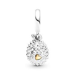 Srebrna przywieszka pr 925 Charms serce złota pszczoła PAN210