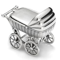 Wózek srebrny z miejscem na ząbek pr 925 AKC02