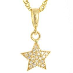 Złota przywieszka pr. 585 gwiazdka cyrkonie ZP040