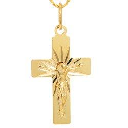 Złoty krzyżyk pr. 585 Krzyżyk z Jezusem ZK049